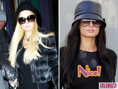 Paris Hilton se cambia el look! Por un ratito...