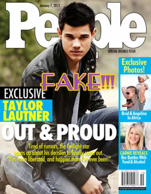 Taylor Lautner Gay en People magazine es Falso!!! FAKE!!!!