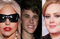 Lady Gaga, Justin y Adele son los grandes triunfadores del 2011