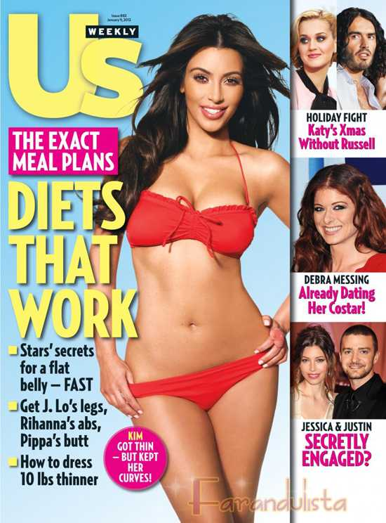Kim Kardashian en Bikini para Us Magazine - Es talla 2 - LMAO!