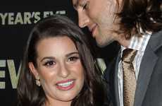 Lea Michele y Ashton Kutcher en la Premier de New Year's Eve