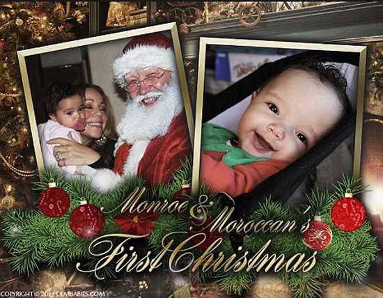 Mariah Carey muestra la pic de Navidad de sus gemelos