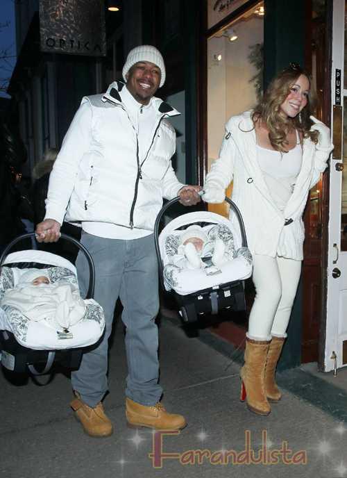 Mariah Carey y Nick Cannon muestran a los gemelos en Aspen