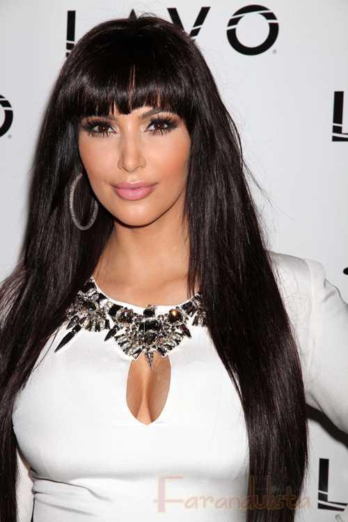 Kim Kardashian con nuevo look en Las Vegas