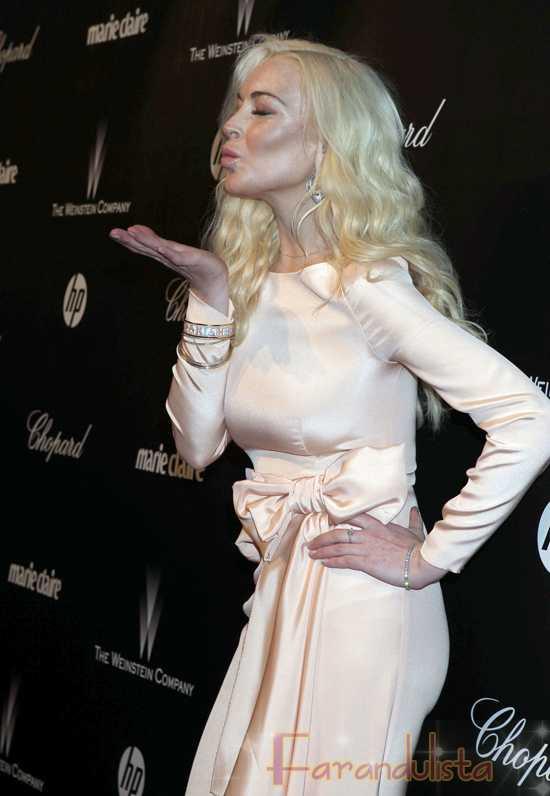 Lindsay Lohan colada en una fiesta pre Golden Globes? Naaahhh