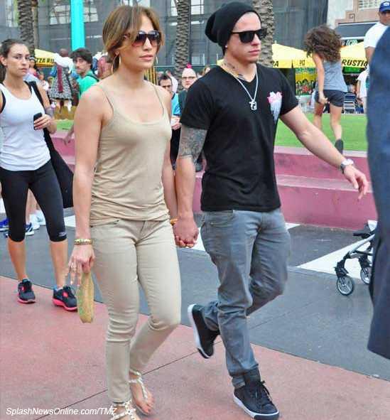 Jennifer Lopez y Casper Smart de la manito en Miami