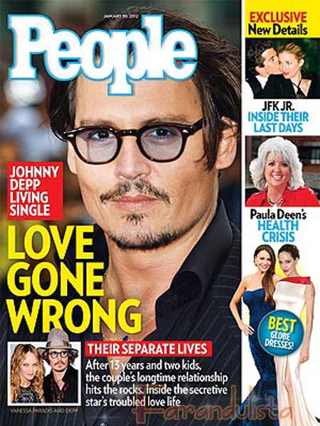 Johnny Depp y Vanessa Paradis viven separados - People