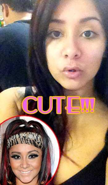 Snooki de Jersey Shore sin Maquillaje!! OMG! CUTE!!!