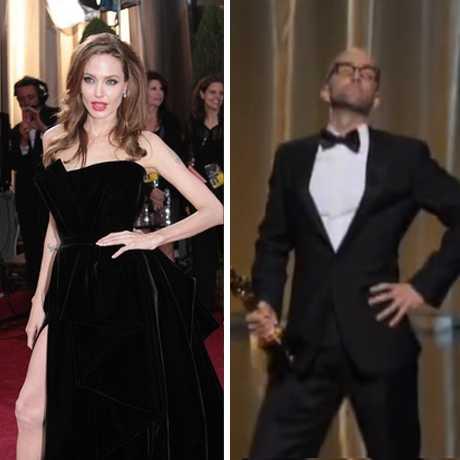 La pierna derecha de Angelina Jolie causa furor LOL!