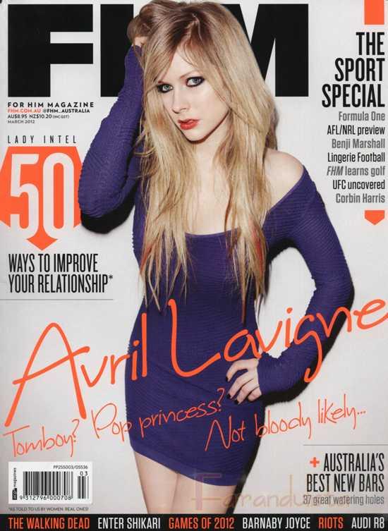 Avril Lavigne en FHM magazine - Australia - [Marzo 2012]