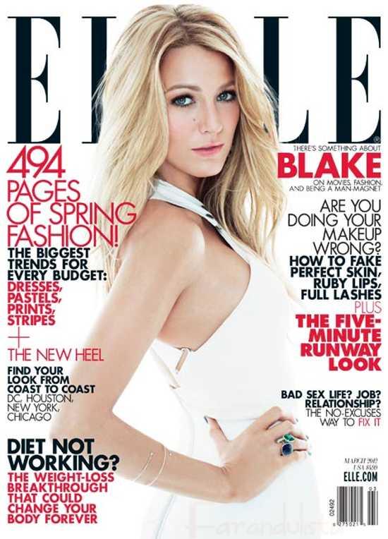 Blake Lively solo ha dormido con 4 chicos, solo novios [Elle]
