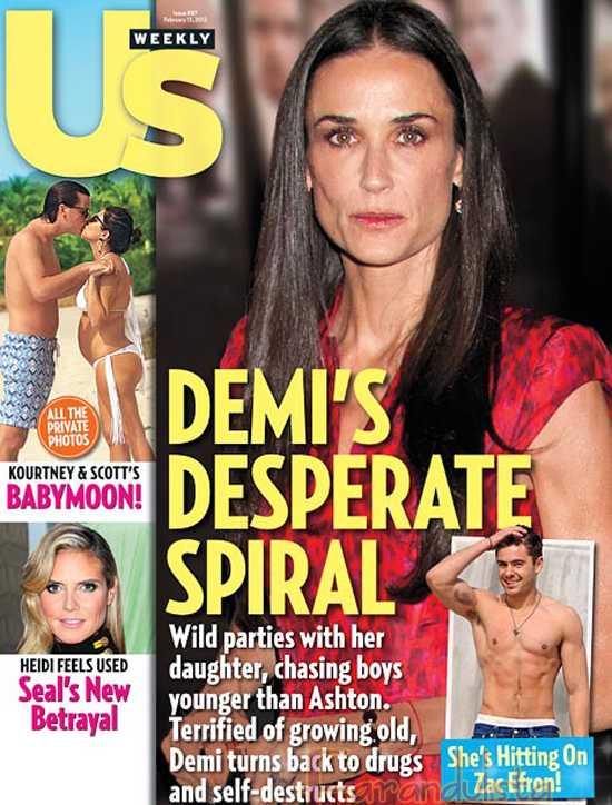 Pobre Demi Moore, desesperada y buscando a Zac Efron? WTF? - [Us]