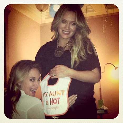 Hilary Duff en su baby shower