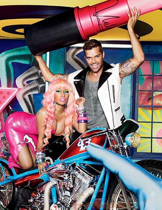 Nicki Minaj y Ricky Martin como imágenes de MAC Viva Glam [Backstage]