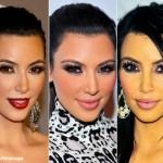 Kim kardashian... su maquillaje y pestañas de araña ya son marca registrada