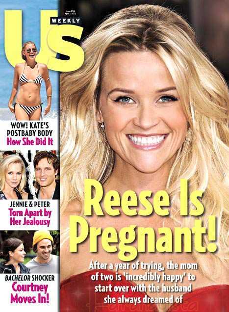 Reese Witherspoon embarazada por tercera vez! [Us]