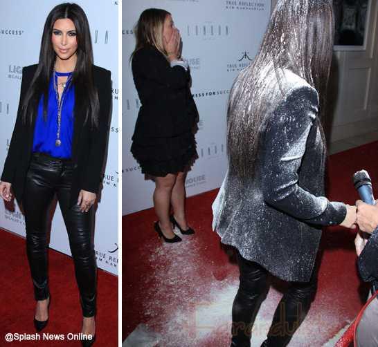 Kim Kardashian fue atacada con polvo blanco!! Call 911!!