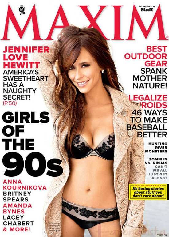Jennifer Love Hewitt ama sus boobs [Maxim]