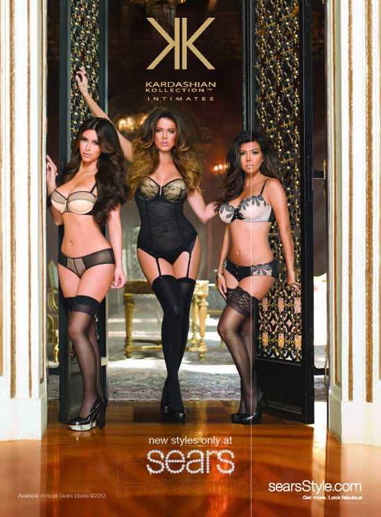 Las Kardashians en la promo de su linea Kardashian Kollection