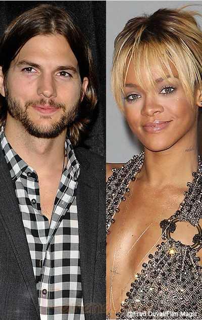 Rihanna ha estado saliendo con Ashton Kutcher?