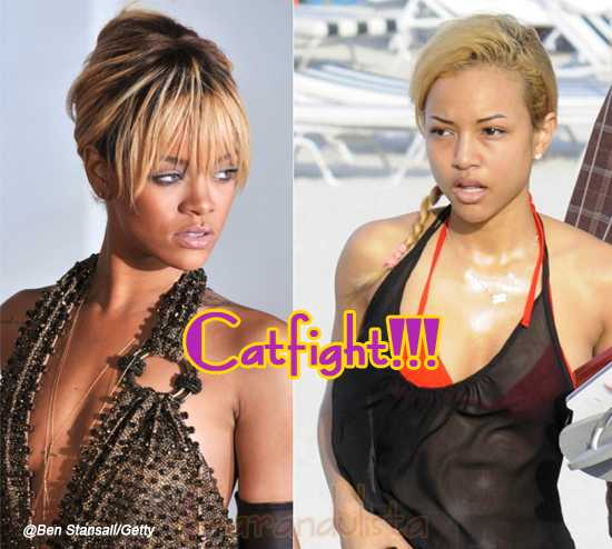 Rihanna y la novia de Chris Brown se pelean online - Catfight!!