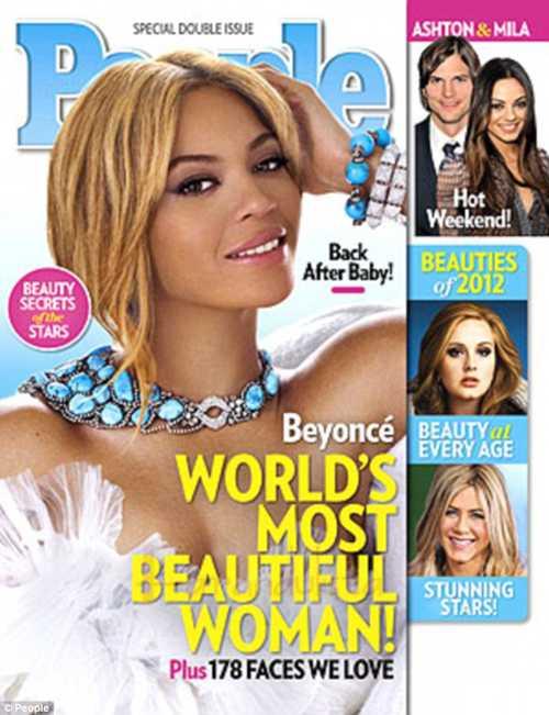 Beyonce es la Mujer Mas Hermosa del Mundo 2012 - People