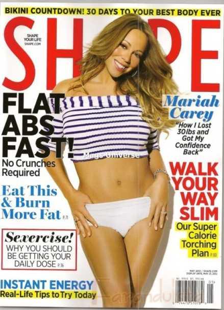 Mariah Carey en Shape magazine