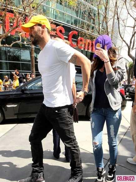 Megan Fox con Brian en el juego de los Lakers - Siguen los Rumores!!