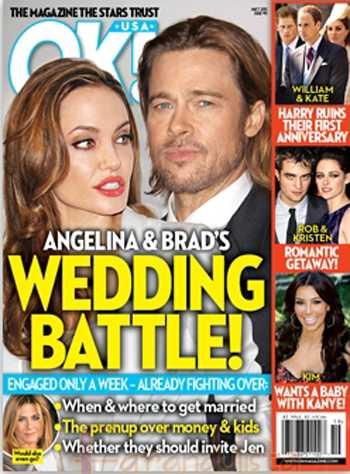 OK! Angelina y Brad se casan pero ya están peleando!!