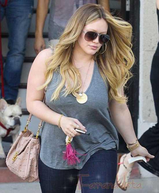 Hilary Duff quiere volver a su peso ideal pero no se estresa