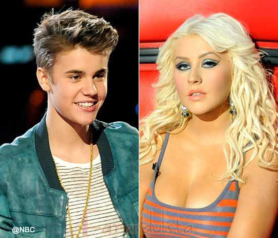 Christina Aguilera desprecia a Justin Bieber en The Voice