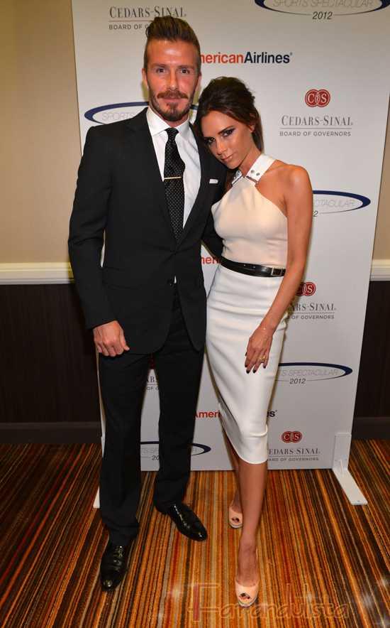 David & Victoria Beckham en el 27th Anniversary Sports Spectacular