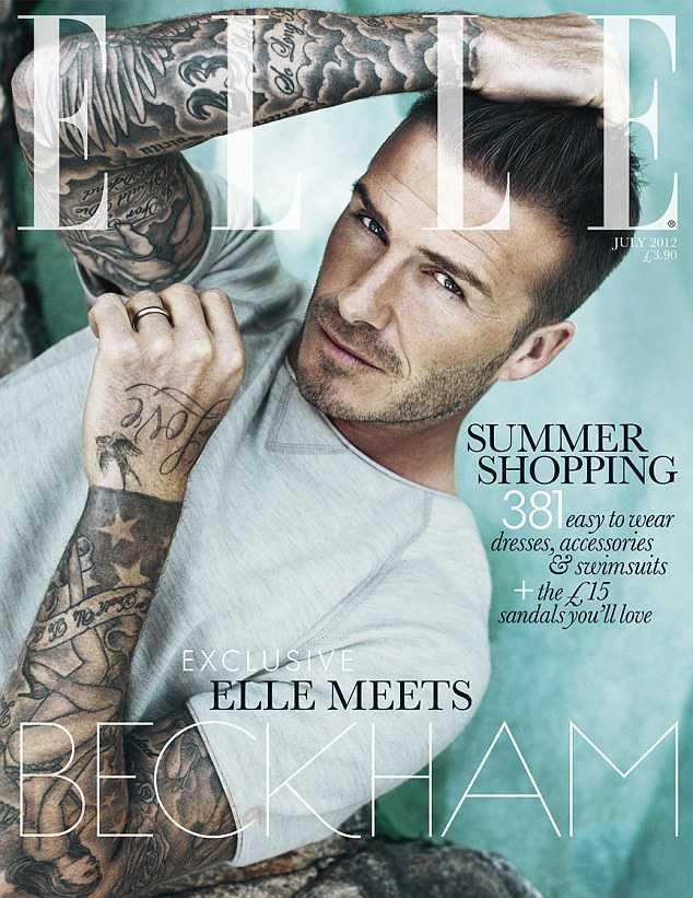 David Beckham en Elle magazine [Julio 2012]