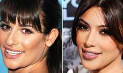 Lea Michele y Kim Kim Kardashian – Twins?