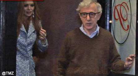 Lindsay Lohan y Woody Allen cenando juntos en NY - Movie?