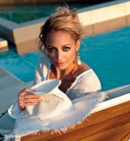 nicole richie white pool glamour