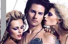 Tom Cruise como Stacee Jaxx (Rock of Ages) en W magazine