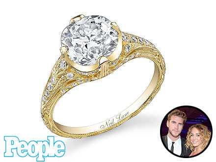 Vean el anillo de compromiso de Miley Cyrus! UPDATE!