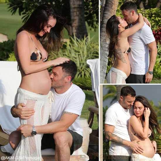 Megan Fox en Bikini muestra su baby bump!!!