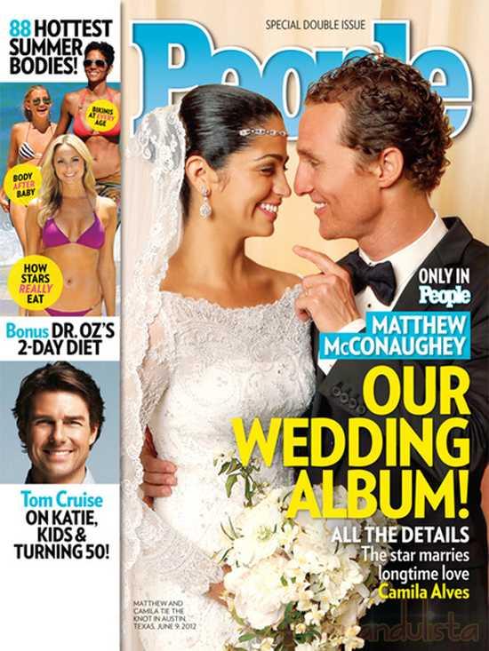 Fotos de la boda de Matthew McConaughey y Camila Alves