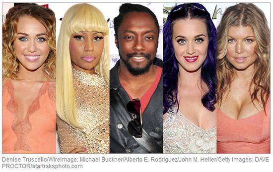 Miley, Nicki, Will.i.am, Katy y Fergie para American Idol?