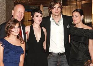La pelea entre Demi Moore y sus hijas empezó por Ashton