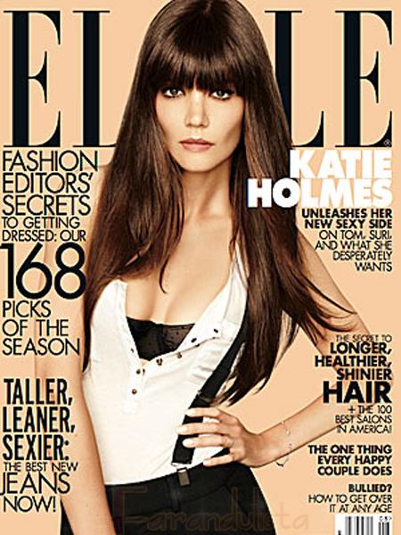 Katie Holmes anunció su divorcio en Elle magazine?