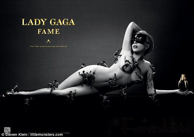 Lady Gaga desnuda para la promo de su perfume Fame