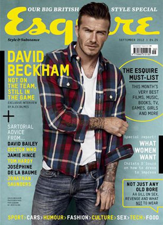 David Beckham en Esquire magazine [Sept 2012]