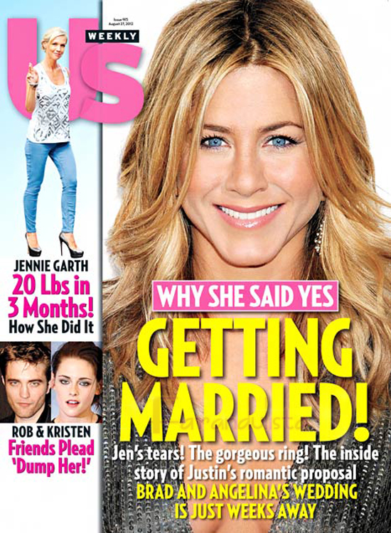 Jennifer Aniston lloró cuando Justin Theroux le propuso matrimonio
