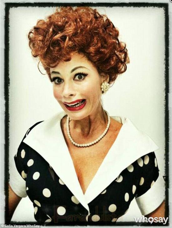 Sofia Vergara a lo Lucille Ball - HILARIOUS!