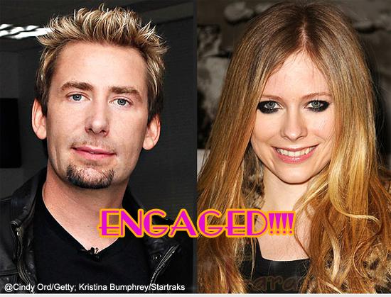 Avril Lavigne COMPROMETIDA con Chad Kroeger? WHAT?