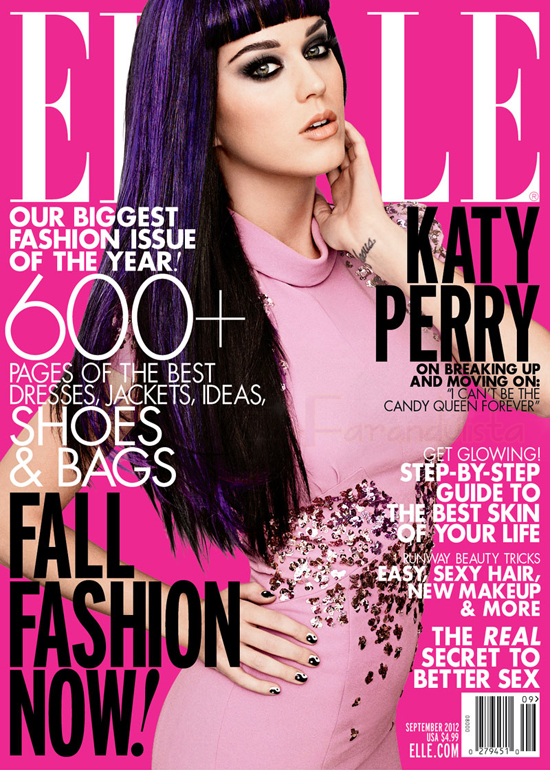 Katy Perry en Elle Magazine -  [Sept 2012]