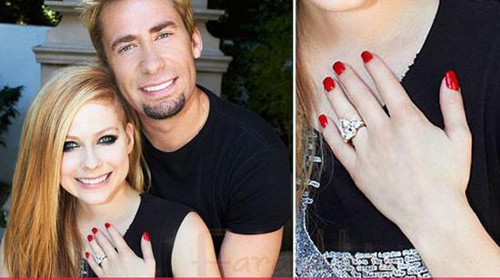 El anillo de compromiso de Avril Lavigne valorado en 0 mil dolaretos